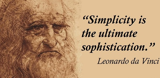Da Vinci quote_Simplicity is the ultimate sophiscation